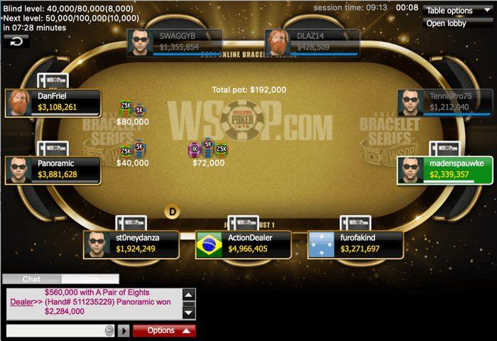 مسابقات آنلاین پوکر WSOP رویداد 18