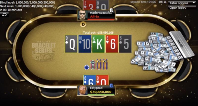 مسابقات آنلاین WSOP رویداد 11